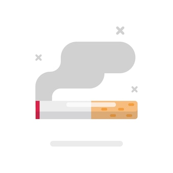 Smoking cigarette icon