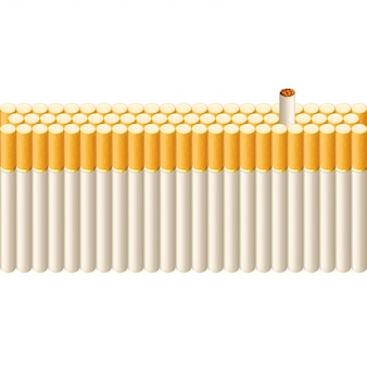 Smoking line of cigarettes