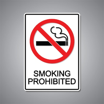 Курение запрещено знак