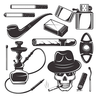 Smoking tools and accessories, tobacco products set