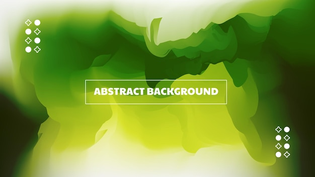 Smoky green abstract background