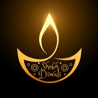 Smooth background with bright decorative diwali candle