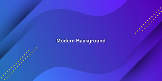 Smooth blue shape on gradient blue color background