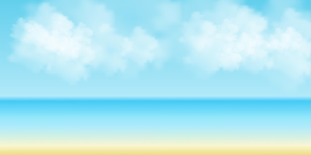 Smooth blue sky and clouds background