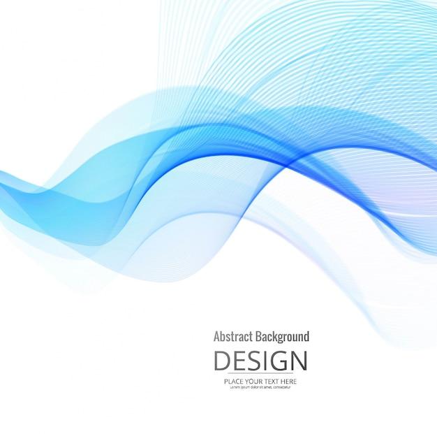 Smooth blue wavy background design