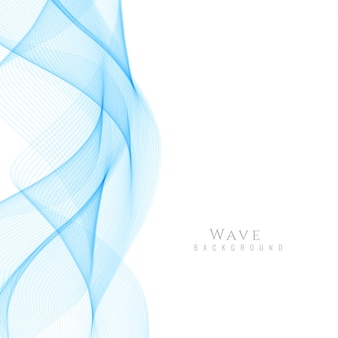 Smooth blue wavy background