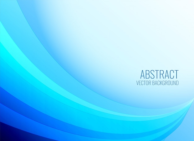 Smooth blue wavy shape background