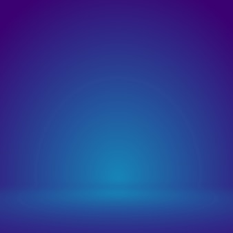 Smooth blue with purple vignette studio well use as background