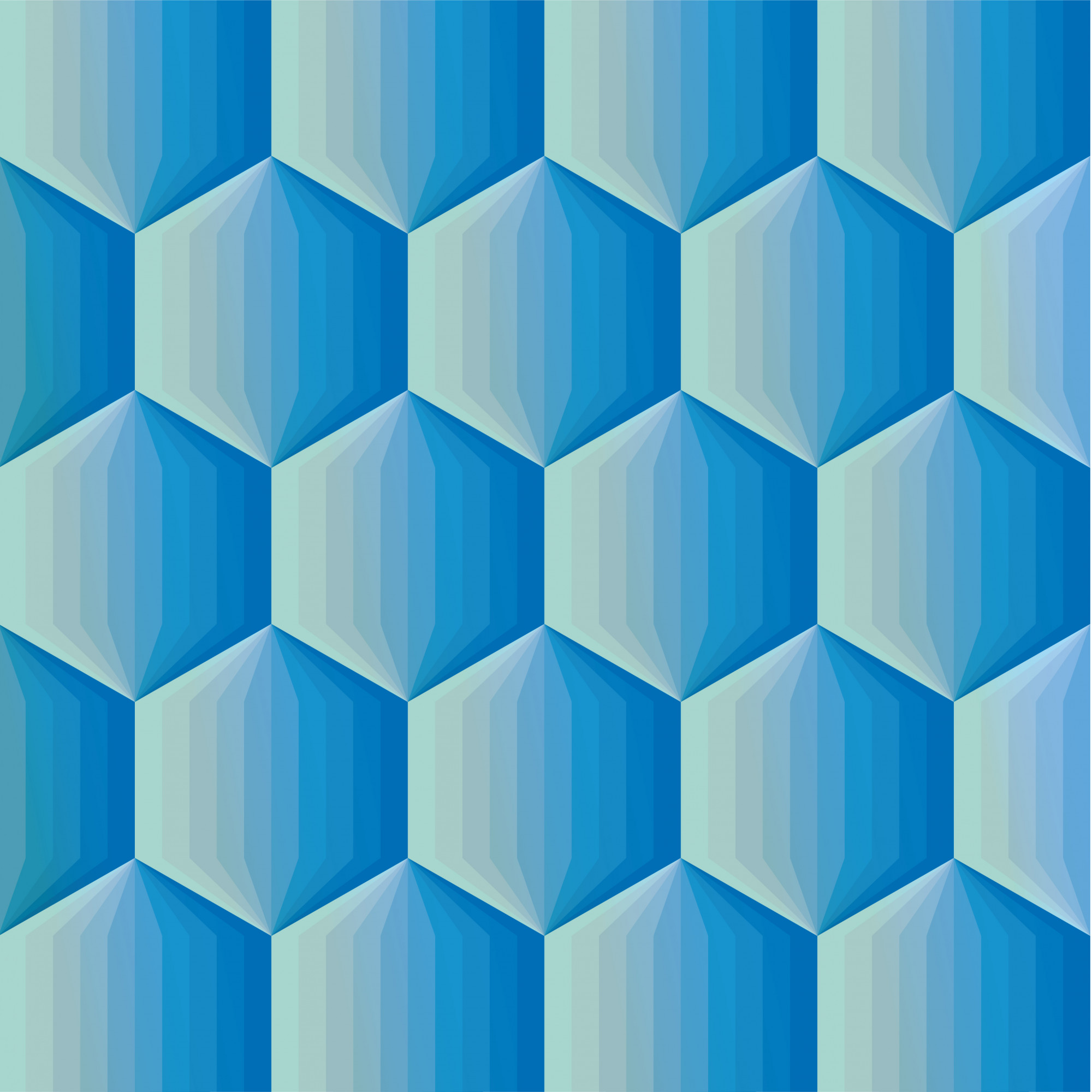 Smooth color gradient hexagon mosaic background