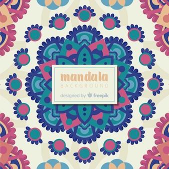 Smooth colorful mandala background