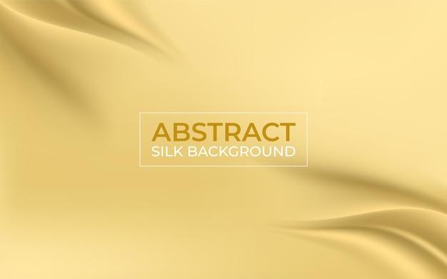 Smooth elegant golden silk fabric background