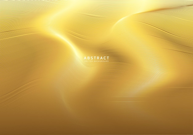 Smooth gold wave background
