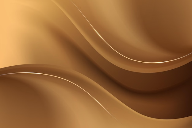 Smooth golden wave background