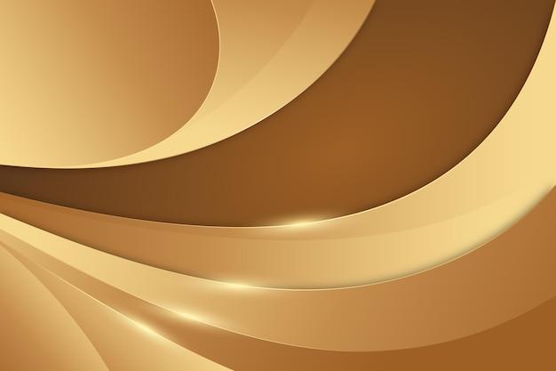 부드러운 황금 물결 배경