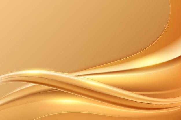 Smooth golden wave background