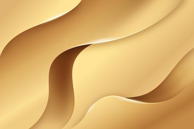Гладкая золотая волна фон