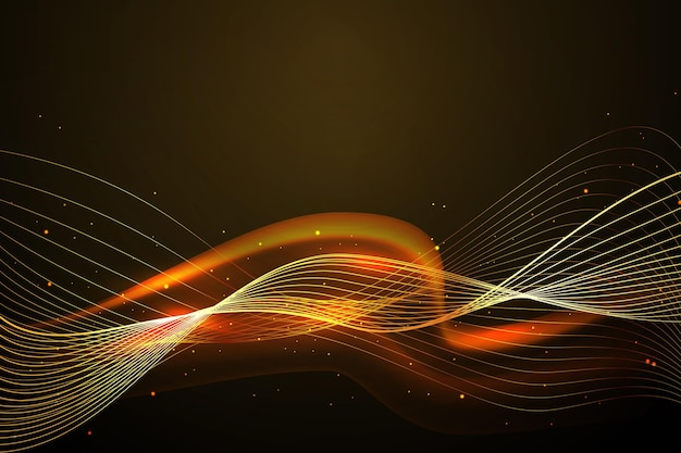 Smooth golden wave wallpaper  design