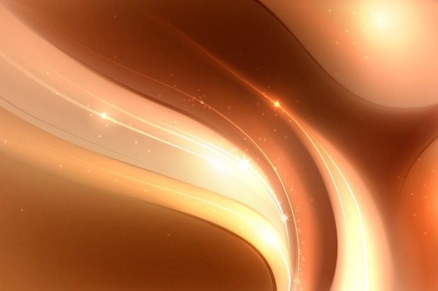 Smooth golden wave wallpaper