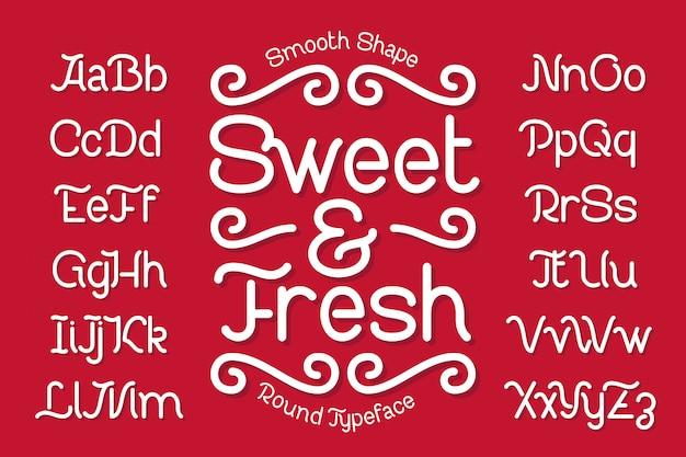 Гладкий современный набор шрифтов