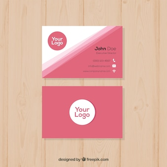 Smooth pink business card template