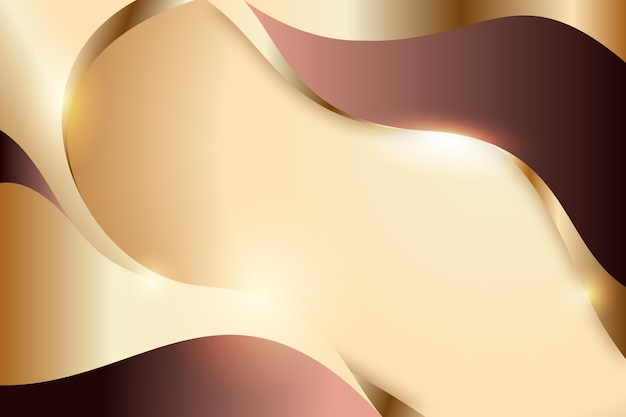 Smooth pink golden wave background