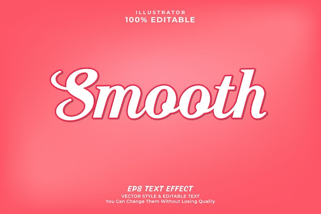 Smooth text effect