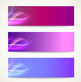 Smooth waves banners