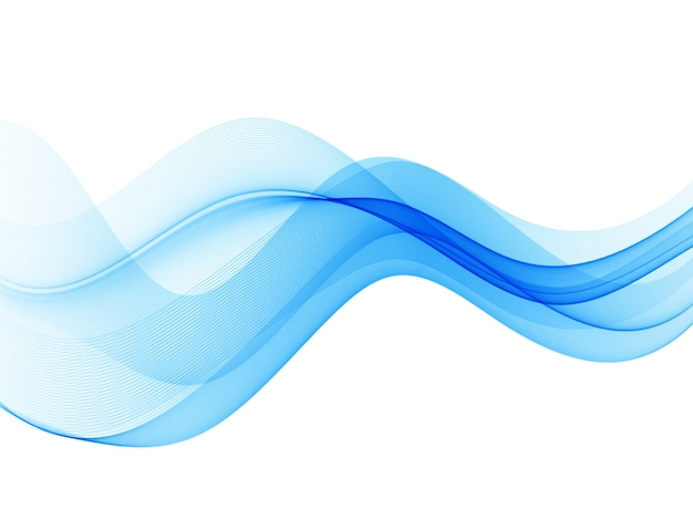 滑らかな波や線。抽象的な背景。青い波