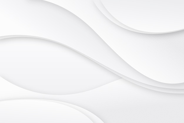 Smooth white wave background