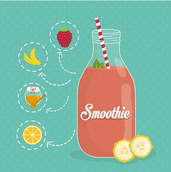 Smoothie design.