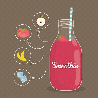 Smoothie design.
