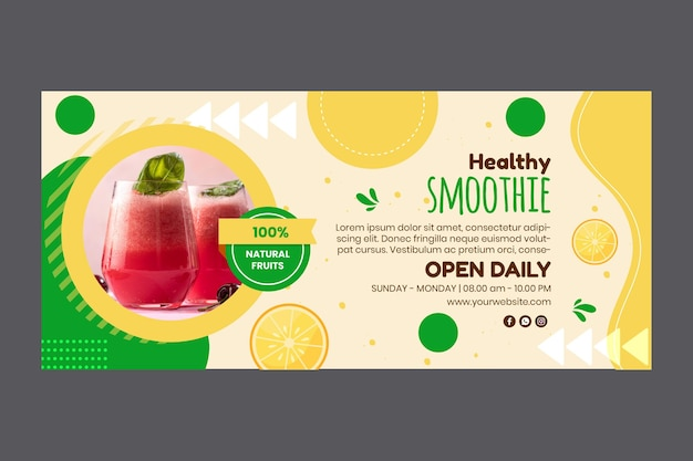 Smoothies bar banner template