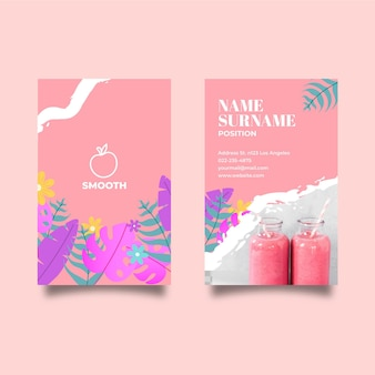 Smoothies bar double-sided business card