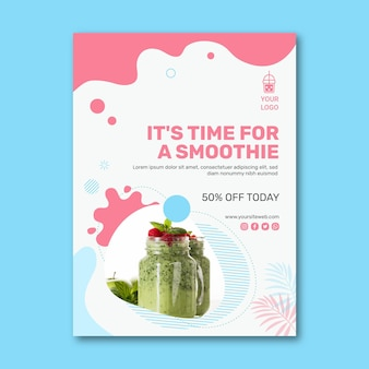 Smoothies bar flyer vertical