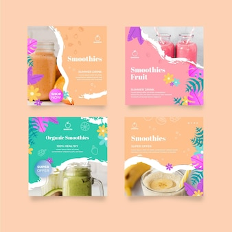 Smoothies bar instagram posts