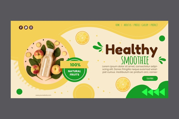 Smoothies bar landing page