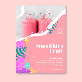 Smoothies bar poster template