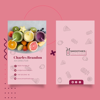 Smoothies factory banner template