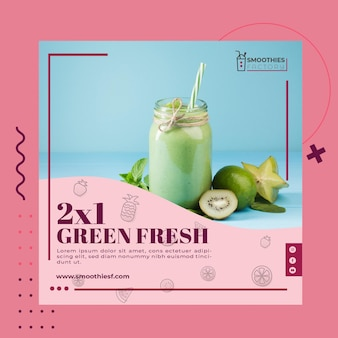 Smoothies factory flyer template