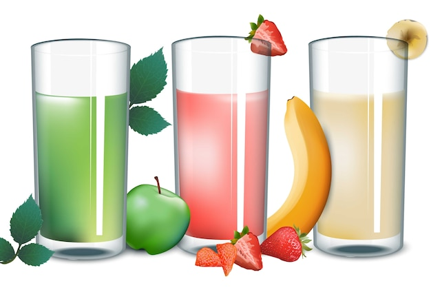 Smoothies set collection