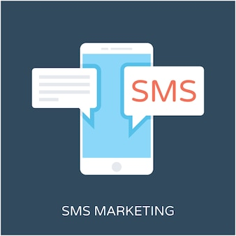 Sms flat vector icon