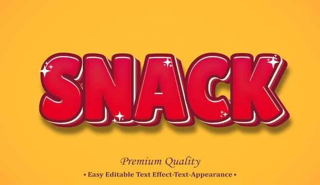 Snack 3d font style effect