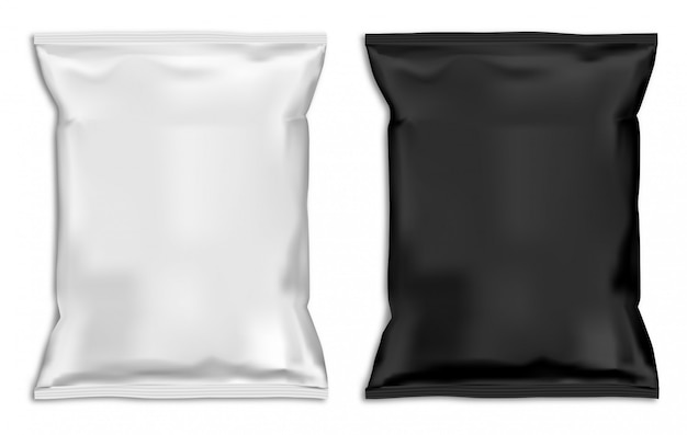 Snack bag mock up. Premium Vector