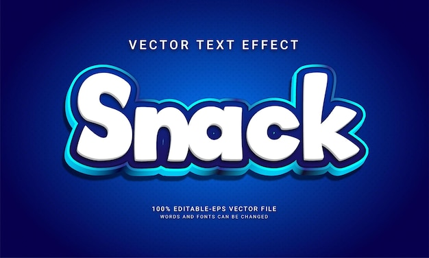 Закуска редактируемый эффект стиля текста тематическое меню сладких блюд с синим цветом