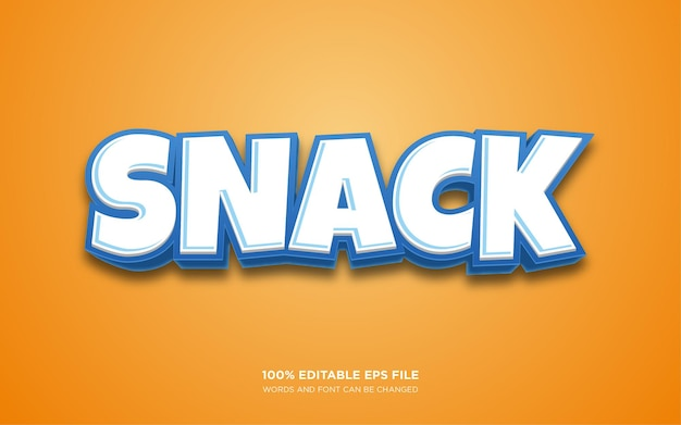 Snack editable text style effect