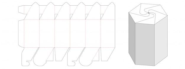 Snack packaging box die cut template design