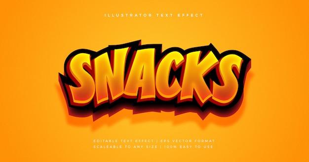 Эффект шрифта snack spicy text style