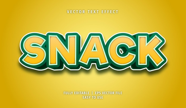 Snack text effect, editable text style