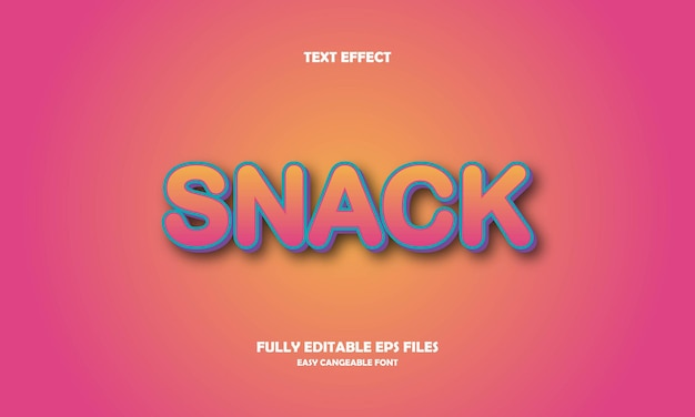 Snack text effect