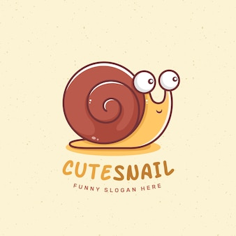 Snail animal logo